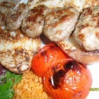 5 adet 200 gr. köfte bulgur pilav közde domates biber soslu ekmek